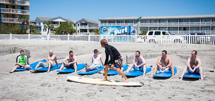 Charleston Surf Lessons Beach instruction. © 2014 Audra L. Gibson. All Rights Reserved.