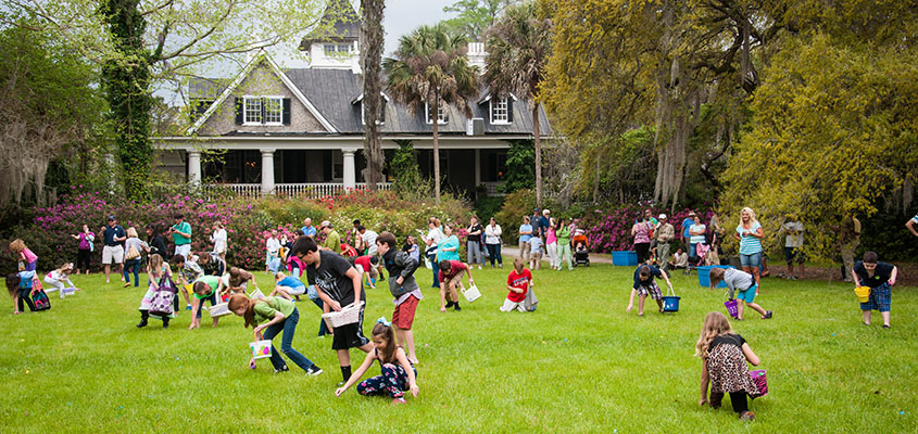 Children hunt for eggs during Magnolia's Annual Easter Egg Hunt. © 2014 Audra L. Gibson. All Rights Reserved.