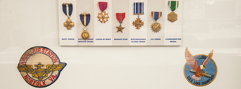 Uss Yorktown medals. © 2016 Audra L. Gibson. All Rights Reserved.