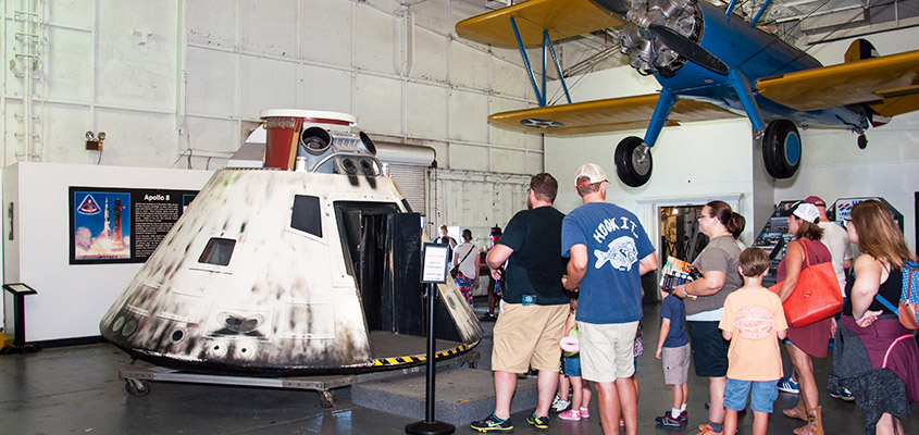 Apollo 8 Capsule replica aboard the USS Yorktown. © Audra L. Gibson. All Rights Reserved.
