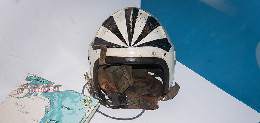1950's Navy Fighter Helmet. © 2016 Audra L. Gibson. All Rights Reserved.