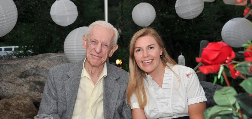 My grandfather and I at my brother's wedding rehearsal dinner in Colorado. All Rights Reserved.