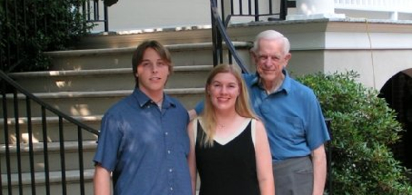 My brother, myself, and my grandfather, Jim, Gibson. © Graeme Gibson. All Rights Reserved.