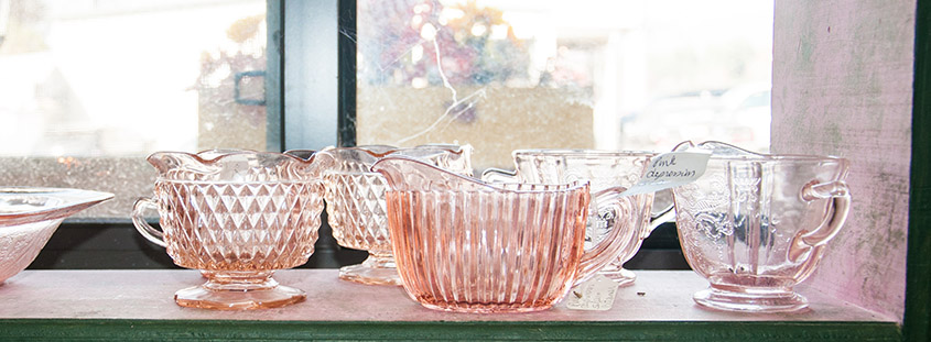 Pink Depression Glass Blairsville © 2016 Audra Gibson. All Rights reserved.