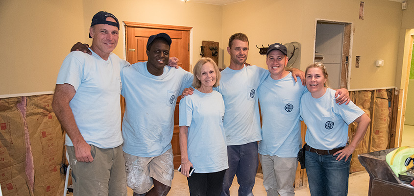 Hurricane Harvey Relief Team from James Island Christian Church in Houston, TX