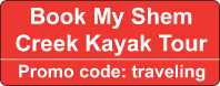 Book a Shem Creek kayak tour with our coupon code.