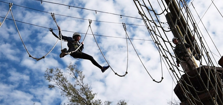 Ready to climb to new heights? Tackle this Charleston Ropes Course.
