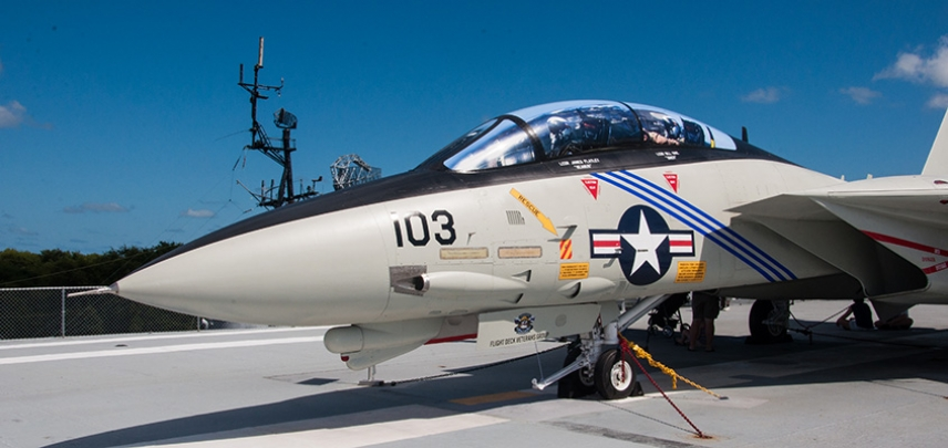 F14 on the deck of the USS Yorktown